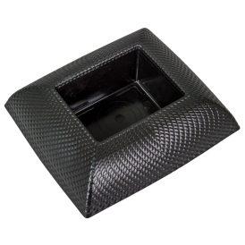 Műanyag tál téglalap alakú mintás fekete 19x17 cm
