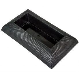Műanyag tál téglalap alakú mintás fekete 29x17 cm
