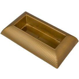 Műanyag tál téglalap alakú mintás arany 29x17 cm