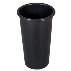 Műanyag sírváza betét fekete M18,5cm D11cm