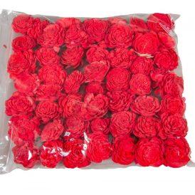 Ming boglárka piros 4cm 50db-os