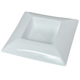 Műanyag tál négyzet alakú fehér 24 x 24 cm