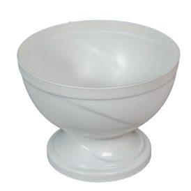 Műanyag nagy talpas tál fehér D21cm M15,5cm