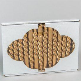 Karfa metál gyertya arany 30db-os (db ár)