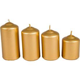 Metál 40mm-es lépcsős gyertya arany (csom ár)