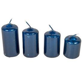 Metál 40mm-es lépcsős gyertya sötét kék (csom ár)