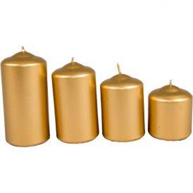 Metál 50mm-es lépcsős gyertya arany (csom ár)