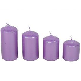 Metál 50mm-es lépcsős gyertya lila (csom ár)