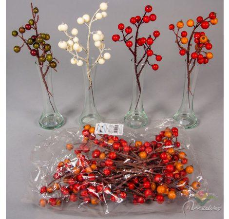 Karácsonyi bogyós ág (db ár) 12db/csomag/szín