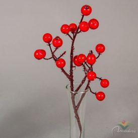 Karácsonyi bogyós ág (db ár) 12db/csomag/szín  Egész csomagra rendelhető!
