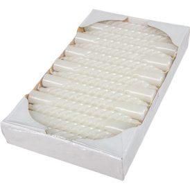 Mártott nagy csavart gyertya  fehér 200mm  (db ár) 30db/csom