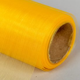 Organza tekercs  16 sötét sárga 12cm*10m