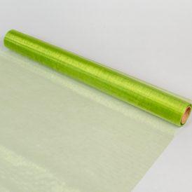Organza anyag 108 zöld 48cm x 10m