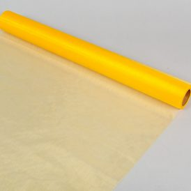 Organza anyag 16 sárga 48cm x 10m