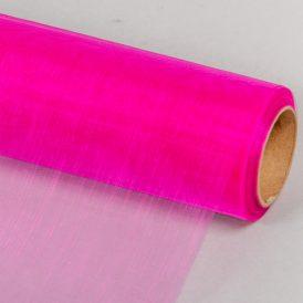 Organza anyag  27 sötét rózsaszín 48cm x 10m