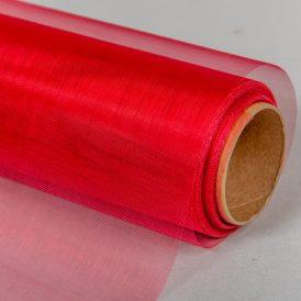 Organza anyag 33 piros 48cm x 10m