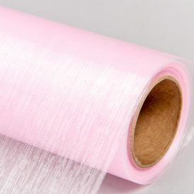 Organza anyag 43 baba rózsaszín  48cm x 10m