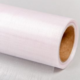 Organza anyag 90 világos rózsaszín 48cm x 10m