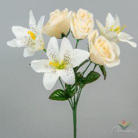 Rózsa, liliom csokor 6v. 24db/karton Egész/fél kartonra rendelhető!