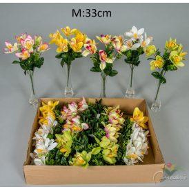 Orchidea csokor 6v. M33cm 24db/#