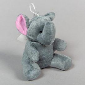 Plüss elefánt kulcstartó 9cm