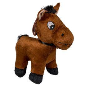 Plüss ló csengővel 13cm