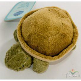 Plüss teknősbéka csörgő 12x6cm
