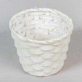 Bambusz kaspó fehér D13,5M 10cm