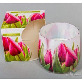 Poharas illatmécses virág mintás