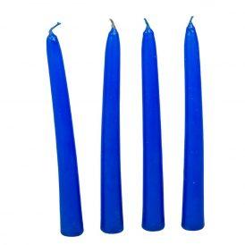 Mártott spitz gyertya kék 20cm (db ár) 20db/csom