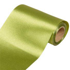 Szatén dekor anyag  15 alma zöld 12cmx10m