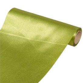 Szatén dekor anyag  15 alma zöld 23cmx10m