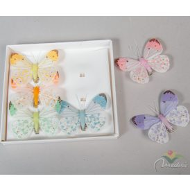 Pasztal csipeszes pillangó 7,5cm 6db-os
