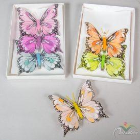 Csipeszes pillangó 10cm 3db-os