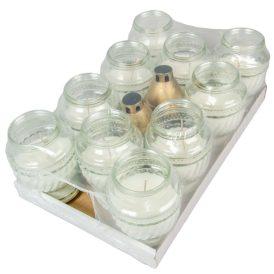 Öntött üvegmécses fehér 20cm 400 gr. 10db/#