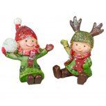 Karácsonyi kerámia figurák