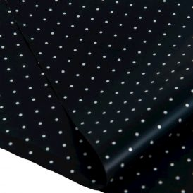 Csomagoló fólia fekete pöttyös 20dkg 70x100cm 10db-os
