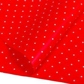 Csomagoló fólia piros pöttyös 70x100cm 10db-os