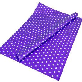 Csomagoló fólia sötét lila pöttyös 70x100cm 10db-os