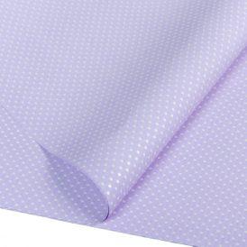 Csomagoló fólia világos lila pöttyös 70x100cm 10db-os