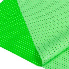 Csomagoló fólia zöld pöttyös 70x100cm 10db-os